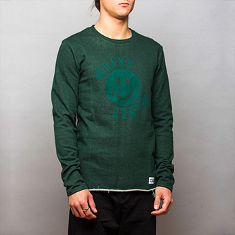 Smiley Big Logo Sweatshirt - Green Melange