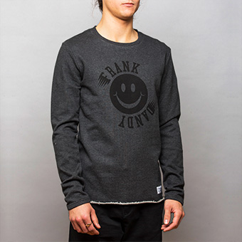 Smiley Big Logo Sweatshirt - Black Melange