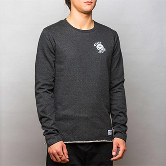 Smiley Small Logo Sweatshirt - Black