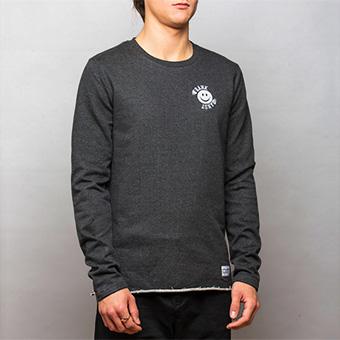 Smiley Small Logo Sweatshirt Black