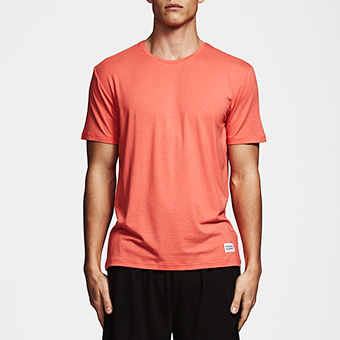 Bamboo SS Tee - Hot Coral Red