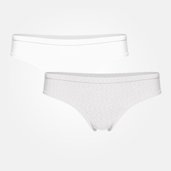2-pack Women's Bamboo Hip - White