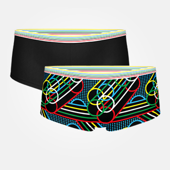 2-pack Women's Rings Boxer - Black