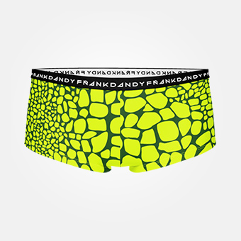 Women's Crocodile Boxer - Grön