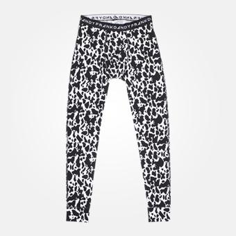 Vita långkalsonger - Cow print