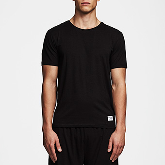 Bamboo Straight Tee - Black