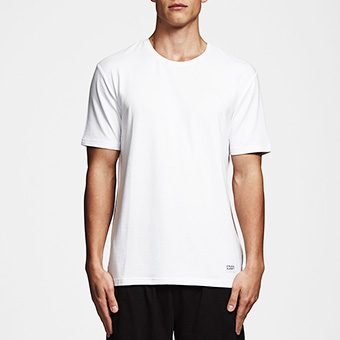 Bamboo Straight Tee - White