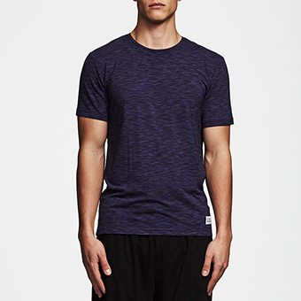 Bamboo Straight Tee - Space Grey Navy