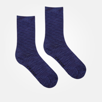 Space Grey Navy - Bamboo Solid Crew Sock
