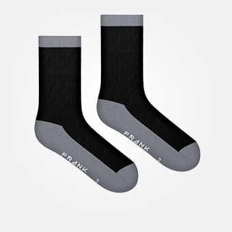 Charcoal Gray - Bamboo Contrast Crew Sock