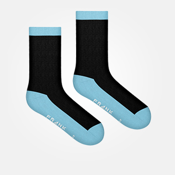 Clear Blue - Bamboo Contrast Crew Sock