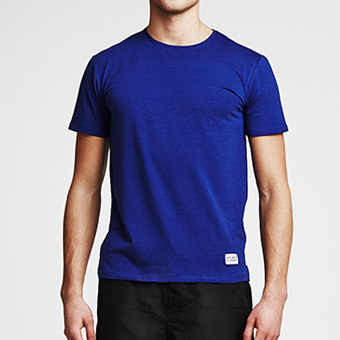 Bamboo Straight Tee - Dark Blue