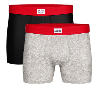 2-Pack X-mas Box Boxer - Grey/Black