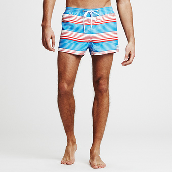 Sail Sunset Stripe Swimshorts - Light Blue