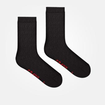 Bamboo Logo Sock - Black/Red