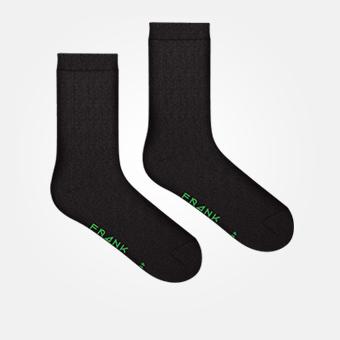 Bamboo Logo Sock - Black/Classic Green