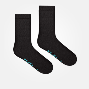 Black/Blue Sky - Bamboo Logo Socks