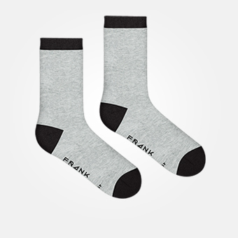 Grey Melange/Black - Bamboo Socks