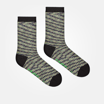 Space Military Green - Bamboo Socks