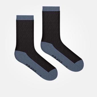 Bamboo Contrast Crew Sock - Black/Vintage Indigo