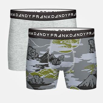 2-Pack Mount Haze Boxer - Grå/Militärgrön