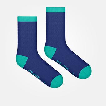 Dark Navy/Turquoise - Bamboo Socks