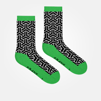 Black/Green - Bamboo Socks