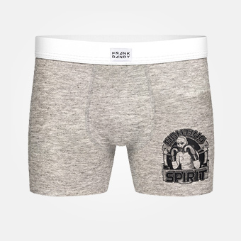 Fighting Spirit Boxer - Grey Melange