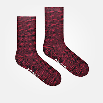 Space Burgundy Red - Bamboo Socks